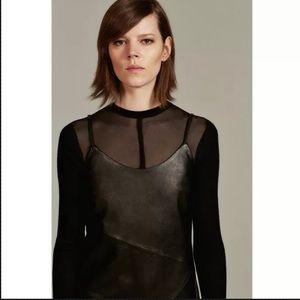 ZARA WOMAN STUDIO BLACK LEATHER DRESS